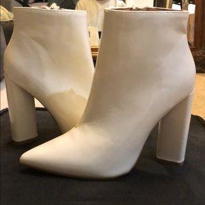 Brand new white booties